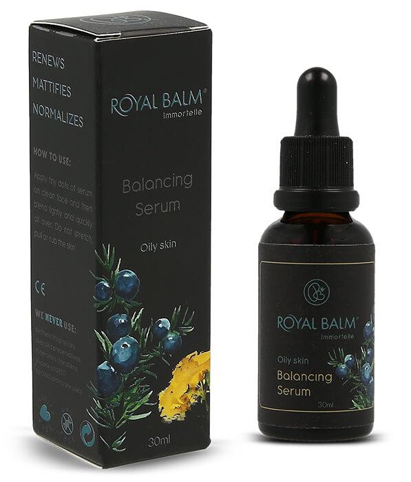 Serum za masno lice Royal Balm, satkan od vrhunskih organskih lekovitih biljaka.